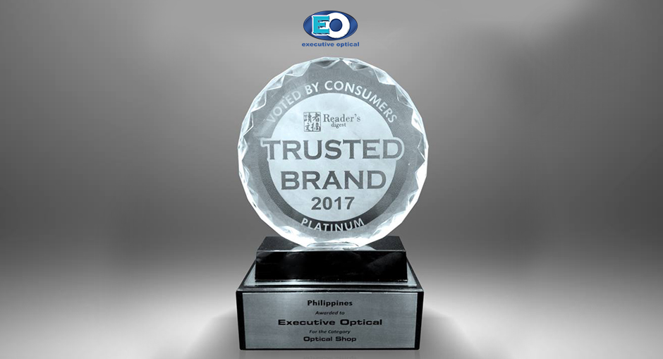 Executive Optical Bags the Reader's Digest Platinum Trusted Brand for 2017 Again