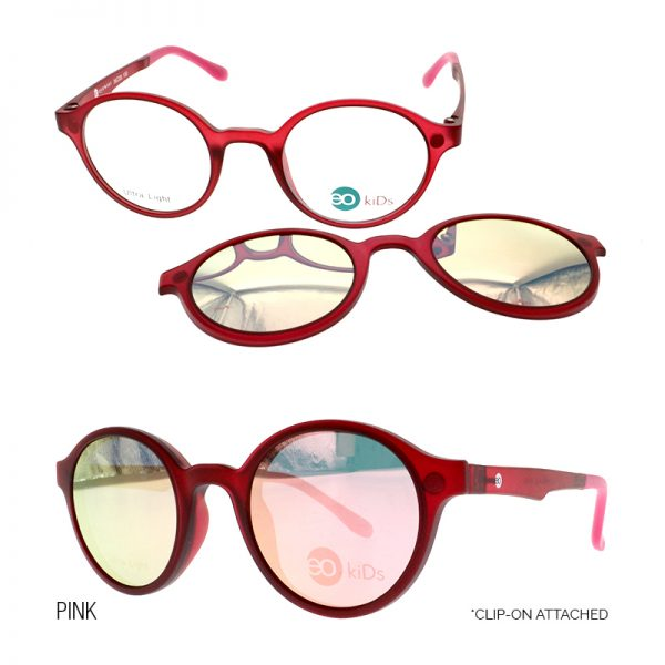 EO Kids Little band-aid eyeglasses pink color