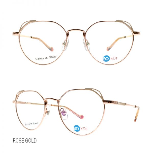 EO Kids eyeglasses Little Bumble with free lens Rose Gold