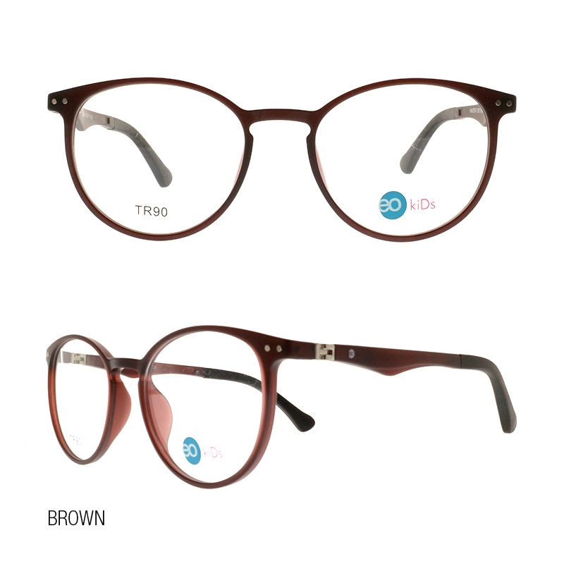 EO Kids Master 360 eyeglasses with free 1.56 MC lens brown color