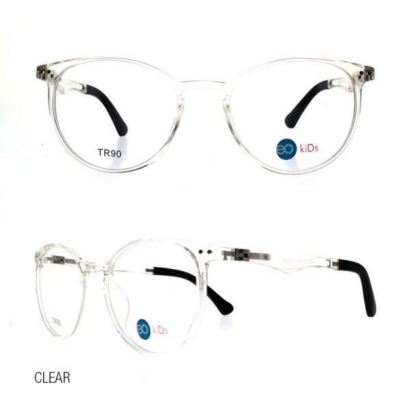 EO Kids Master 360 eyeglasses with free 1.56 MC lens clear color