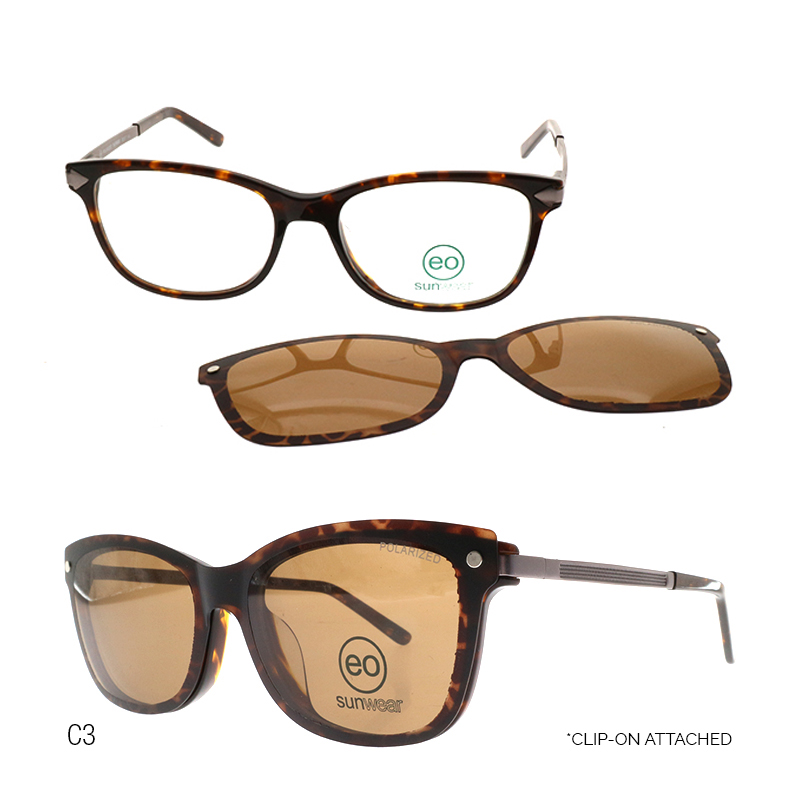 EO Saul Beaufort sunglasses with free 1.56 MC Lens color brown