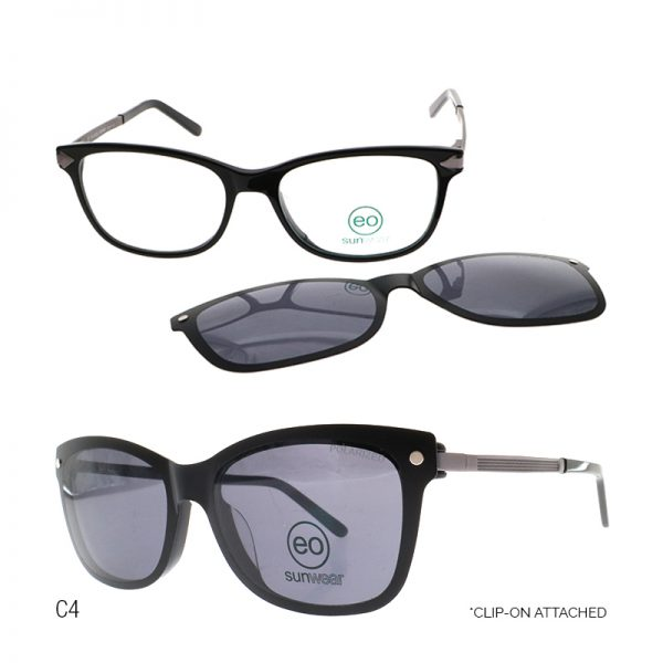 EO Saul Beaufort sunglasses with free 1.56 MC Lens color black