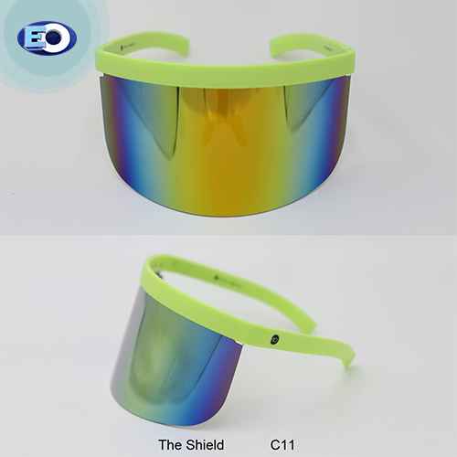 EO The Shield Protective Glasses (Smoke Lens with Colorful Revo C11) trendy face shield