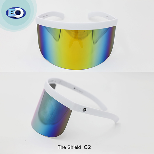 EO The Shield Protective Glasses (Smoke Lens with Colorful Revo C2) face shield fashionable trendy affordable