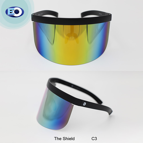 EO The Shield Protective Glasses (Smoke Lens with Colorful Revo C3) face shield fashionable and trendy