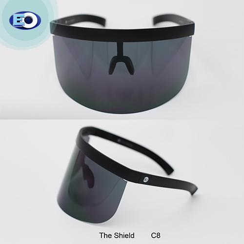 EO The Shield Protective Glasses with ANTI-FOG (D. Smoke Lens C8) face shield covid-19