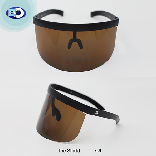 EO The Shield Protective Glasses with ANTI-FOG (Brown Lens C9) face shield sale