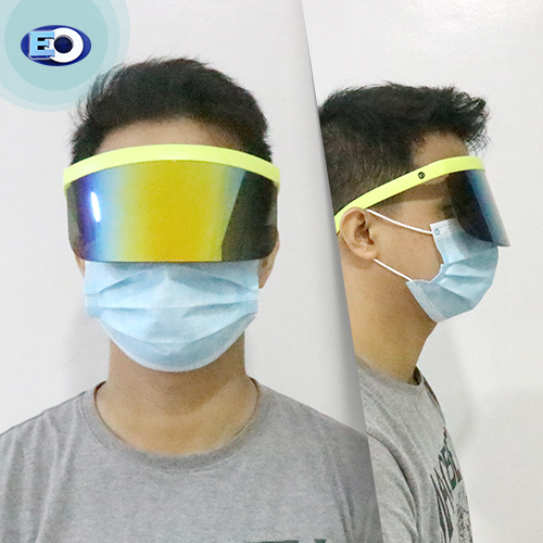 EO The Shield Protective Glasses (Smoke Lens with Colorful Revo C11) for men face shield for covid-19 safety