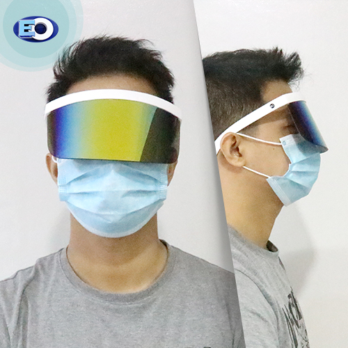 EO The Shield Protective Glasses (Smoke Lens with Colorful Revo C2) face shield for men sale now
