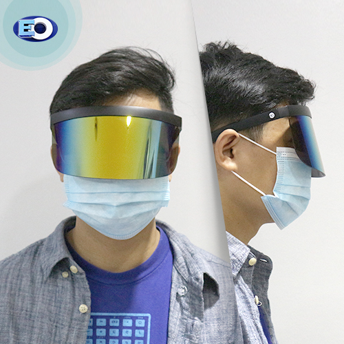 EO The Shield Protective Glasses (Smoke Lens with Colorful Revo C3) on the road face shield for men
