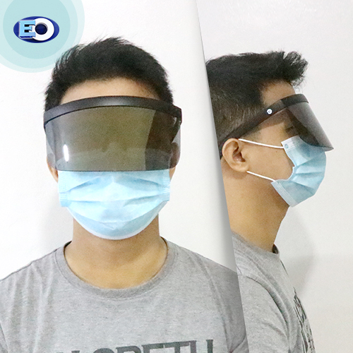EO The Shield Protective Glasses with (Smoke Lens with L. Gold Revo C6) face shield for men online sale