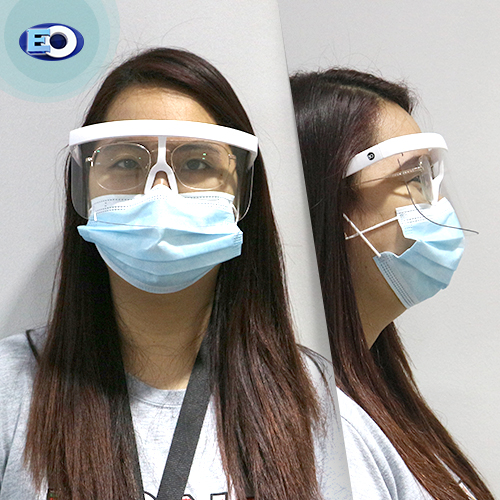 EO The Shield Protective Glasses with ANTI-FOG (Clear C1) face shield for women high quality