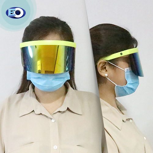 EO The Shield Protective Glasses (Smoke Lens with Colorful Revo C11) for women fashionable face shield