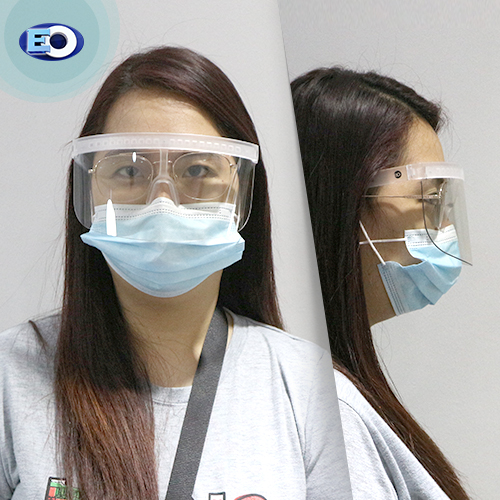 EO The Shield Protective Glasses with ANTI-FOG (Clear Lens C12) for women high quality face shield