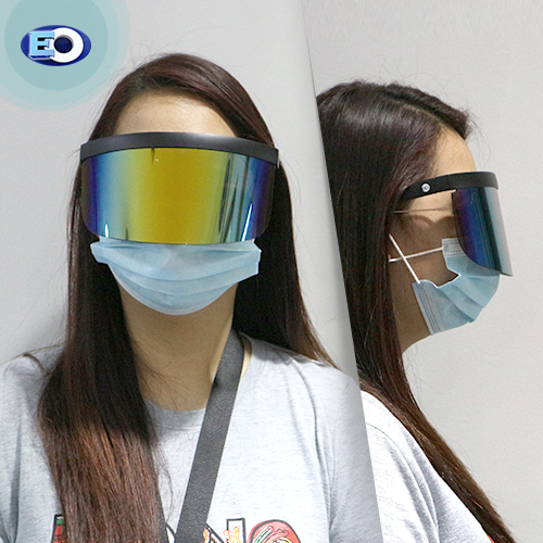 EO The Shield Protective Glasses (Smoke Lens with Colorful Revo C3) face shield for women