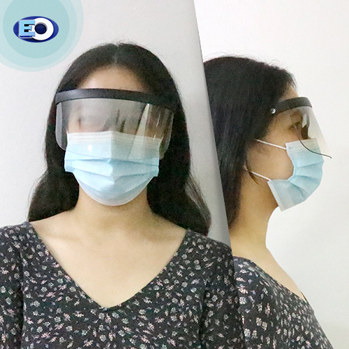 EO The Shield Protective Glasses (Clear Lens with Grad. Silver Revo C5) face shield for women safe and effective