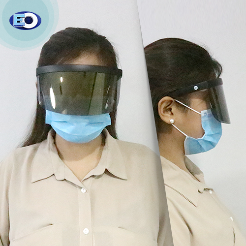 EO The Shield Protective Glasses with (Smoke Lens with L. Gold Revo C6) face shield for women sale now