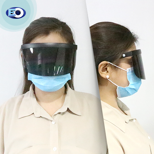 EO The Shield Protective Glasses with ANTI-FOG (D. Smoke Lens C8) face shield for women for sale online