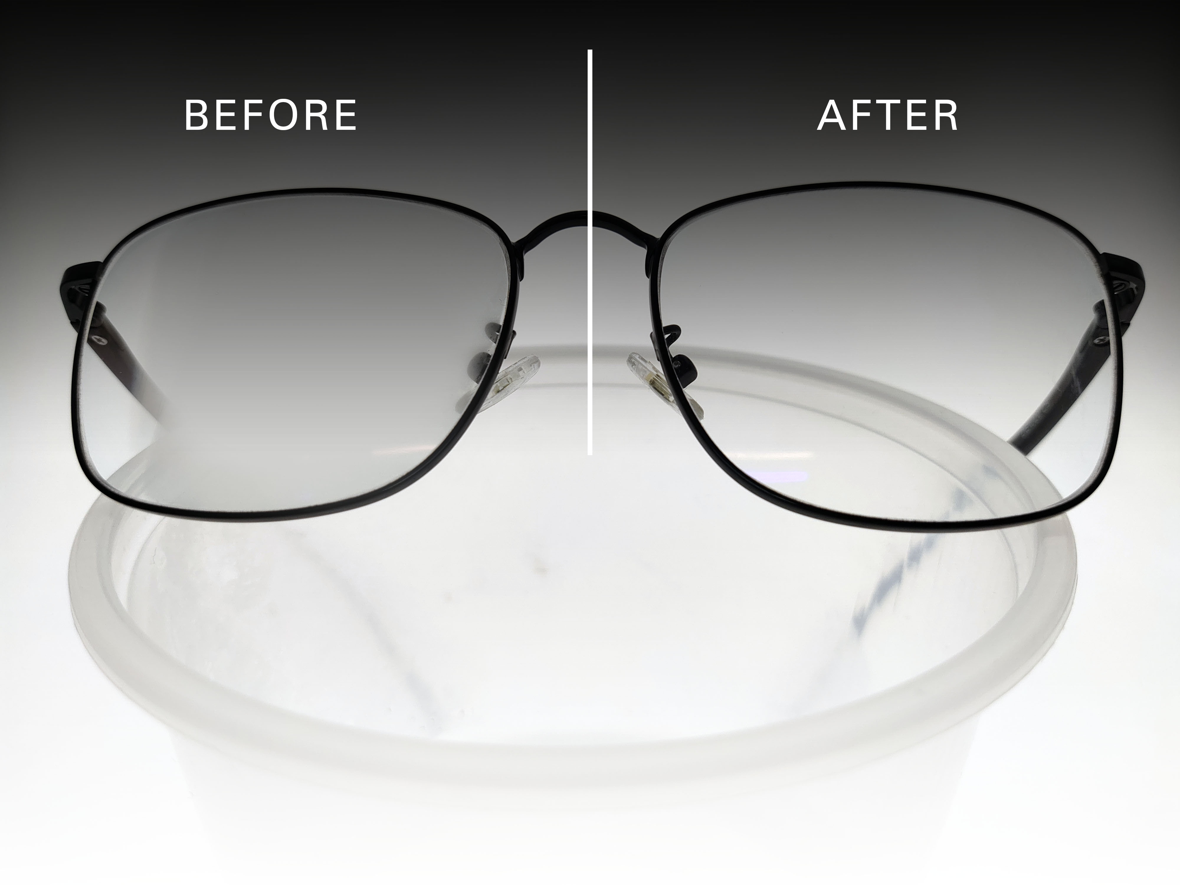 before and after eo anti fog lens cleaning cloth demo