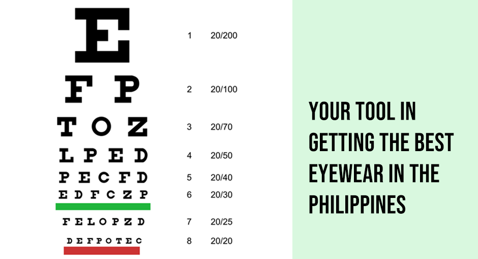 Eye chart:  Your tool in getting the best eyewear in the Philippines